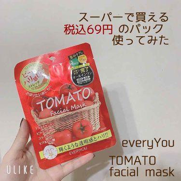 EVERYYOU トマトフェイシャルマスク/EVERYYOU/シートマスク・パックを使ったクチコミ(1枚目)