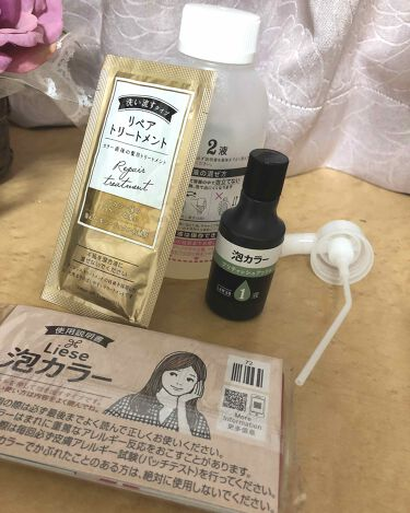 泡カラー(医薬部外品)/リーゼ/ヘアカラー・白髪染め・ブリーチを使ったクチコミ(2枚目)