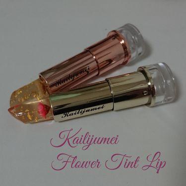フラワーティントリップN オイルイン/Kailijumei/口紅を使ったクチコミ(1枚目)