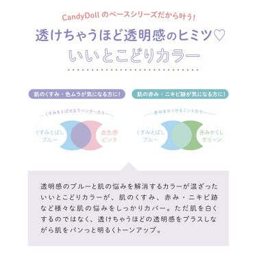 ブライトピュアベースCC/CandyDoll/化粧下地を使ったクチコミ(2枚目)