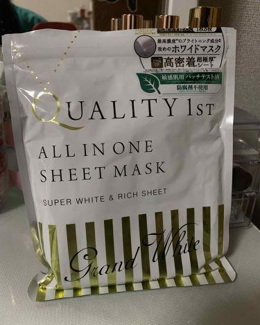 オールインワンシートマスク グランホワイト 携帯用/クオリティファースト/シートマスク・パックを使ったクチコミ(1枚目)