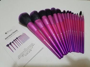 ☪七香.さんの「そのまま!DUcare     INSTRUCTIONS  15PC Makeup Brush Set<メイクブラシ>」を含むクチコミ