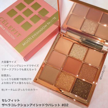 The Bella collection eyeshadow palette/CELEFIT/パウダーアイシャドウを使ったクチコミ(3枚目)