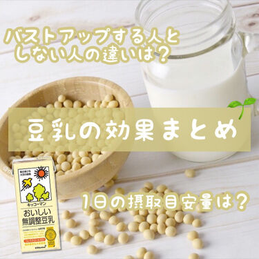 おいしい無調製豆乳/キッコーマン飲料/ドリンクを使ったクチコミ(1枚目)