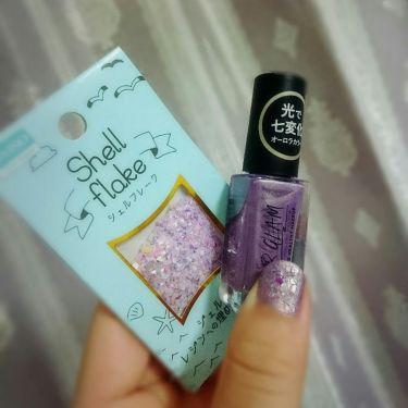 シェルフレーク 化粧-つめメイク No.318/DAISO/ネイル用品を使ったクチコミ(2枚目)