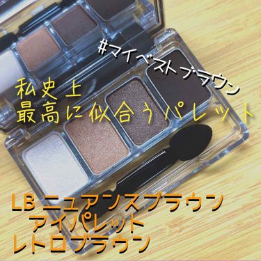 LB ニュアンスブラウンアイパレット/LB/パウダーアイシャドウを使ったクチコミ(1枚目)