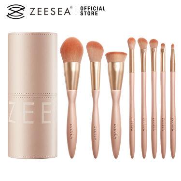 2021/1/21発売 ZEESEA ZEESEA メタバースピンクシリーズ  ローズクラウド メイクブラシ(8本セット)