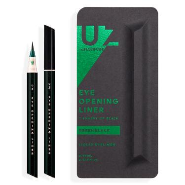 UZU EYE OPENING LINER 7 SHADES OF BLACK GREEN-BLACK