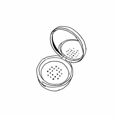 ミラー付ルースパウダー用ケース/無印良品/その他化粧小物を使ったクチコミ(2枚目)