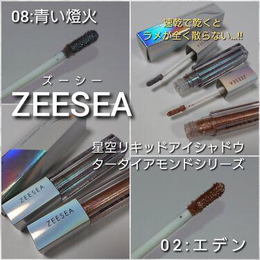 星空リキッドアイシャドウ/ZEESEA/リキッドアイシャドウを使ったクチコミ(2枚目)