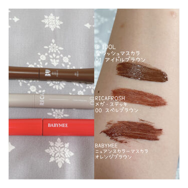 ピンク モーメント インク カラー カラ/PERIPERA/マスカラを使ったクチコミ(2枚目)