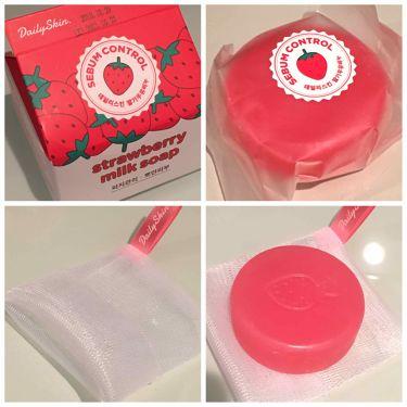 strawberry milk soap/デイリースキン/洗顔石鹸を使ったクチコミ(2枚目)