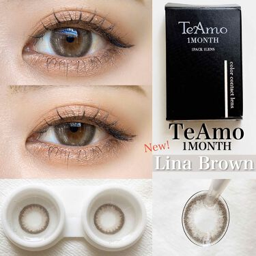 Lina Brown/TeAmo/カラーコンタクトレンズを使ったクチコミ(1枚目)