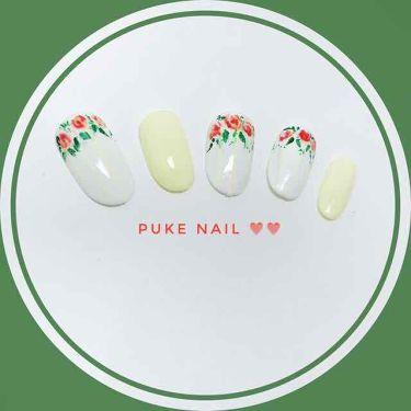 赤薔薇❤︎うすい黄色 ネイルチップ/PUKE NAIL/つけ爪・ネイルチップを使ったクチコミ(2枚目)