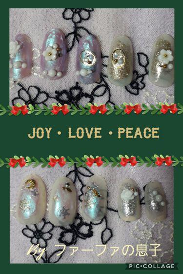 【画像付きクチコミ】【X'mas🎄】うっかり投稿し忘れてしまいました。息子がクリスマスをイメージ⁉️して作成したネイルです💦小3ですので、出来が稚拙なのはどうか目をつむってやって下さい🙏💦💦#キャンメイク#ちふれ#セリア#セルフネイル#GALIPS#GA...