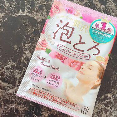 お湯物語 贅沢泡とろ 入浴料 ジュエリーローズの香り/お湯物語/入浴剤を使ったクチコミ(2枚目)