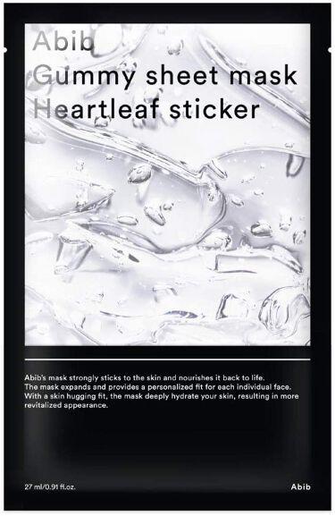 Gummy sheet mask Heartleaf sticker Abib