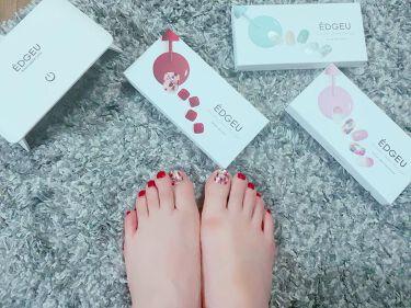 sakuraフォロバ100 on LIPS 「❁¨̮お手軽ネイル❁¨̮ん~可愛すぎる♡なかなかネイルも行きに..」(1枚目)