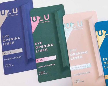 EYE OPENINIG LINER/UZU BY FLOWFUSHI/リキッドアイライナーを使ったクチコミ(3枚目)