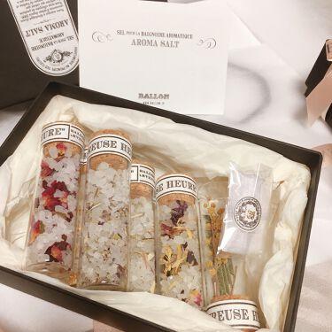 AROMA BATH SALT GIFT SET/BALLON/入浴剤を使ったクチコミ(1枚目)