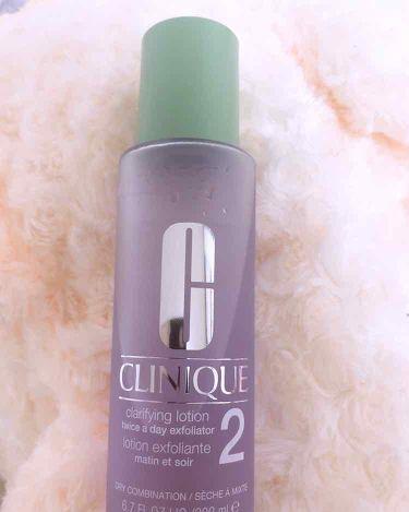 クラリファイング ローション 2/CLINIQUE/ブースター・導入液を使ったクチコミ(1枚目)