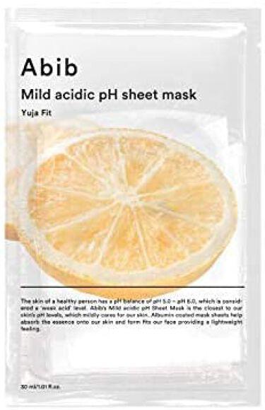 Mild acidic pH sheet mask Yuja fit Abib