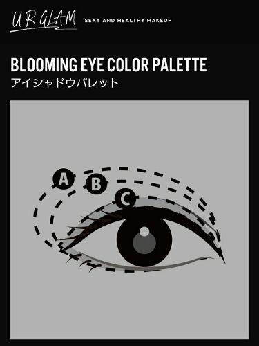 UR GLAM BLOOMING EYE COLOR PALETTE(ブルーミングアイカラーパレット)/DAISO/パウダーアイシャドウを使ったクチコミ(3枚目)