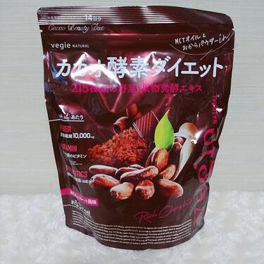 【画像付きクチコミ】KIYORA様のベジエナチュラルカカオ酵素ダイエットのご紹介です。メーカー:KIYORA・キヨラブランド:vegie・ベジエ商品名:カカオ酵素ダイエット容量:280g価格:3240円良質な脂肪酸であるMCTオイル、植物性乳酸菌(腸活)...