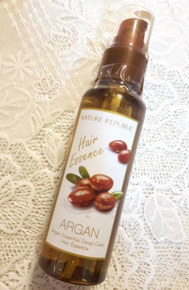 Argan Essential Deep Care Hair Essence/ネイチャーリパブリック/アウトバストリートメントを使ったクチコミ(1枚目)