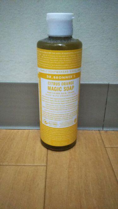 マジックソープ シトラスオレンジ/ドクターブロナー/ボディソープを使ったクチコミ(1枚目)