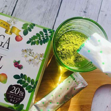 【画像付きクチコミ】\スーパーフードモリンガが美味しく摂れる♪/ユーワモリンガボタニカル.こちらは、美味しいマンゴ味のスーパーフードであるモリンガが配合された青汁です。.1包当たり、ビフィズス菌60億個、23種の乳酸菌、75種の植物発酵エキス、Kombu...