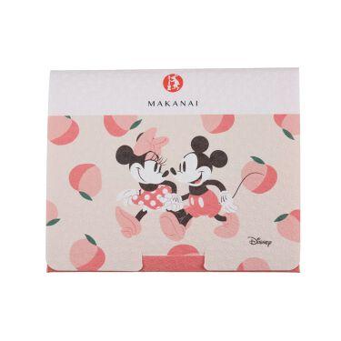 2021/1/8発売 まかないこすめ からくりあぶらとり紙 ミッキー&ミニーデザインの桃の香り