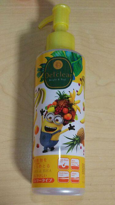 【画像付きクチコミ】《DETクリアブライト&ピールピーリングジェリー》フルーティーバナナの香りパッケージに惹かれてテスターを使用してみたらとにかく香りが良くて購入しました。パッケージは4種類あるみたいですが一番好きなボブだけ売り切れてました😭洗顔後濡れた...