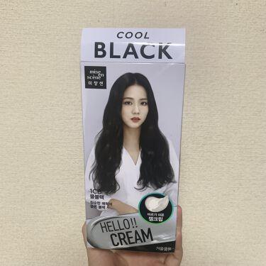 【画像付きクチコミ】これいいですよ〜ブルーブラックって日本の市販のカラー剤じゃ結構痛みますよね〜でもミジャンセンのcoolBlackは3剤にオイルが入っていて痛まないジェル状の染粉になってて本当によかったです☺️市販で黒染めはミジャンセンがいいですよ(^...