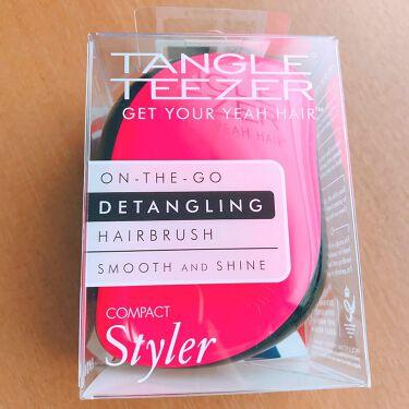 ひかるさんの「TANGLE TEEZER(タングル ティーザー)COMPACT Styler<ヘアケアグッズ>」を含むクチコミ