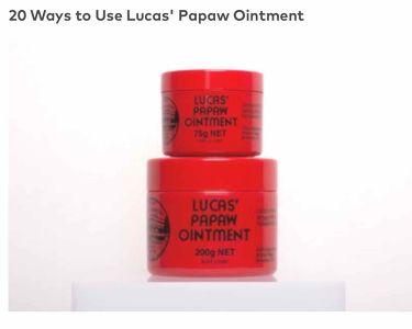 LUCAS' PAPAW OINTMENT/LUCAS' PAPAW REMEDIES/フェイスクリームを使ったクチコミ(2枚目)