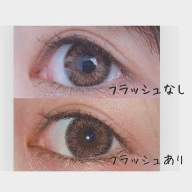 バンビシリーズ ヴィンテージブラウン/エンジェルカラー/カラーコンタクトレンズを使ったクチコミ(2枚目)