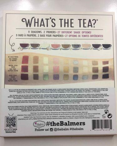 whats the tea /the Balm/パウダーアイシャドウを使ったクチコミ(2枚目)