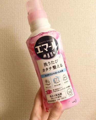 【画像付きクチコミ】毛玉・縮み・色あせを防いでくれるのでニット・カーディガン・ブラウス・ワンピースなどを洗濯するときに使っています^^1回に使う洗剤の量が多いのでコスパはあまり良くないかもしれません🤔これでパフ・ブラシ・スポンジも洗えるみたいなので試して...
