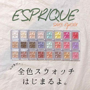 エスプリーク セレクト アイカラー N/ESPRIQUE/パウダーアイシャドウを使ったクチコミ(1枚目)