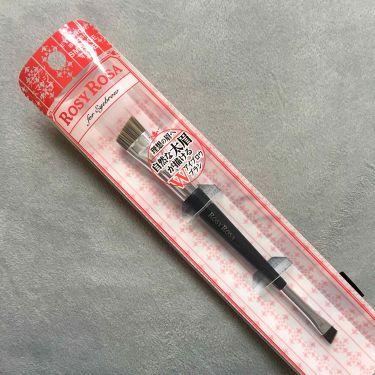ダブルエンドアイブロウブラシ スマッジタイプ/ロージーローザ/メイクブラシを使ったクチコミ(2枚目)