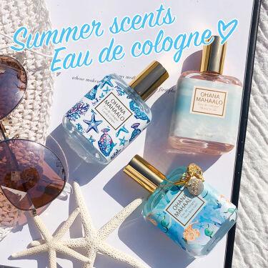 【画像付きクチコミ】🌴Summerscents🌴Eaudecologne💎#オハナマハロで人気のアイテム#オーデコロン。まばゆい太陽、白い砂浜、優しくそよぐヤシの木、波の音、誰もいない美しいビーチ、穏やかなサンセット…。こんなイメージを抱く#夏の香りはこ...