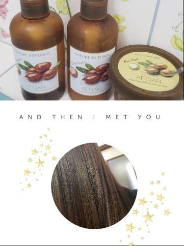 ゆいまるさんの「ネイチャーリパブリック(韓国)Argan Essential Deep Care Shampoo<シャンプー・コンディショナー>」を含むクチコミ