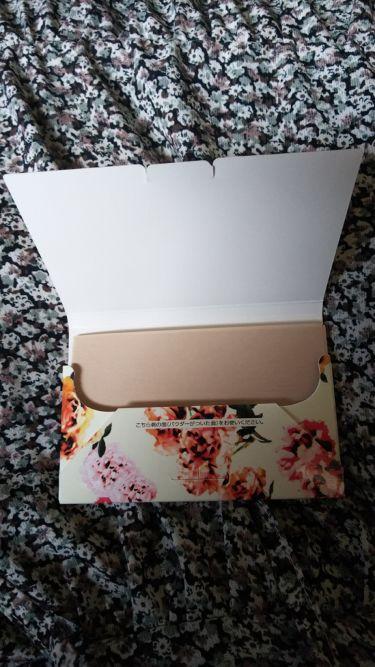 UVカット&毛穴カバーあぶらとり紙/コンビニック セレクティ フラワー/あぶらとり紙を使ったクチコミ(2枚目)