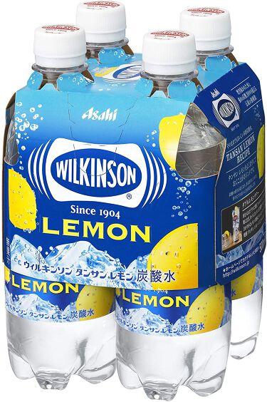 Wilkinson Tansan (ウィルキンソン タンサン/炭酸水) レモン PET 500ml×4本入りマルチパック
