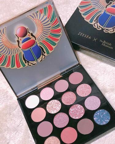 ZEESEA × 大英博物館 16 Colors Eyeshadow Tray/ZEESEA/パウダーアイシャドウを使ったクチコミ(2枚目)