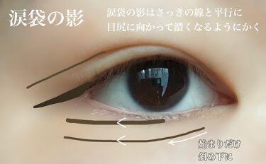 【画像付きクチコミ】☁️誰でも簡単タレ目メイク☁️ タレ目メイクで大事なポイントは目の外側を 盛ること!  アイライン、二重線、目尻のライン、涙袋の影 この4つの線の描き方を工夫すれば誰でも タレ目風アイになれます🐼・アイライン 結構長めに描いてOK し...
