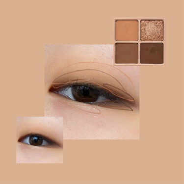 Color Fit Eye Palette/EGLIPS/パウダーアイシャドウを使ったクチコミ(2枚目)