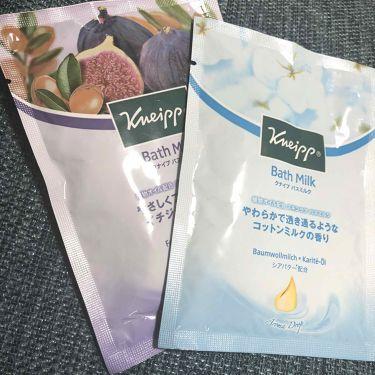 クナイプ バスミルク コットンミルクの香り/クナイプ/入浴剤を使ったクチコミ(1枚目)