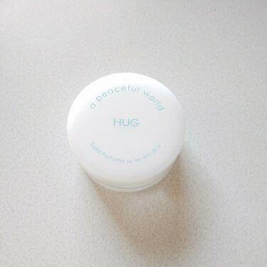 HUG ソリッドパフューム/a peaceful world/香水(レディース)を使ったクチコミ(1枚目)